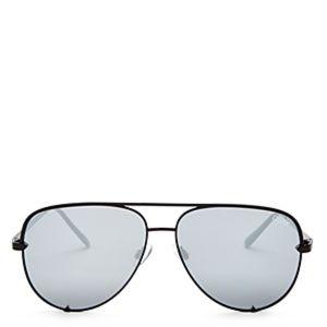 Quay Australia High Key Black Sunglasses 56 mm